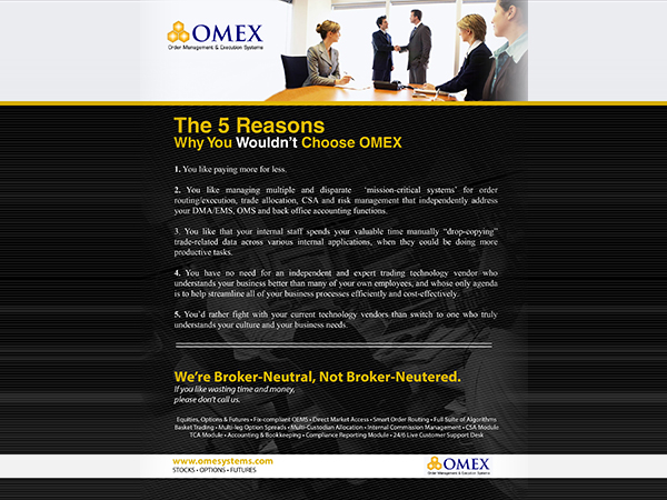 advertising image for Omex Systems